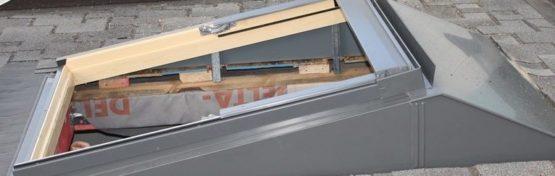 монтаж окна velux с повышающим окладом